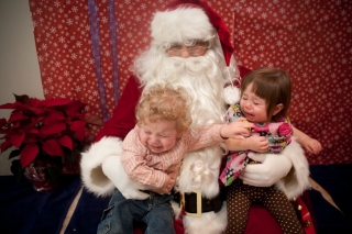 The Kids Meet Santa
