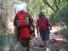 Dad and Grandma hiking