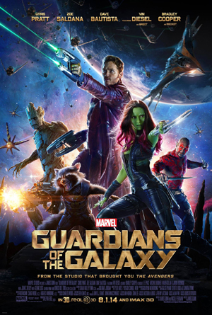 Gamora is even at the front of the movie poster